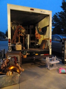 Loading the truck to go!