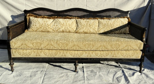 my caned sofa---AFTER!