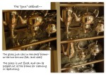 showing a close up of the glassshelves–