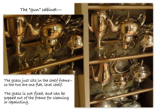 showing a close up of the glass shelves--