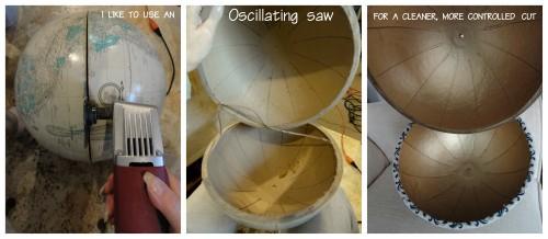 making the white globe light shades