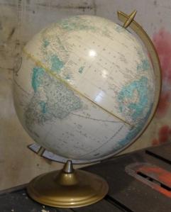 the vintage white globe!
