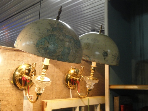 vintage white globe light sconces