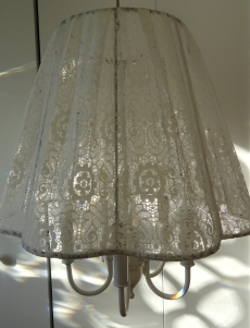 newly covered lace shade