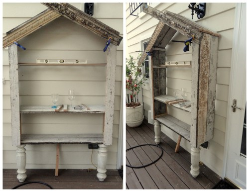 building the outdoor china cabinet