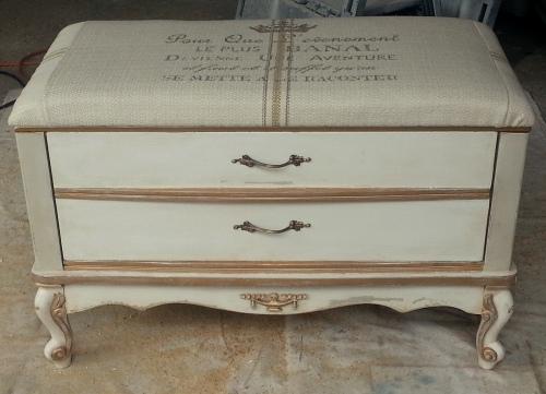The 2nd Craig's List dresser/reinvented bench!