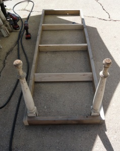 REbuilding the outdoor table--
