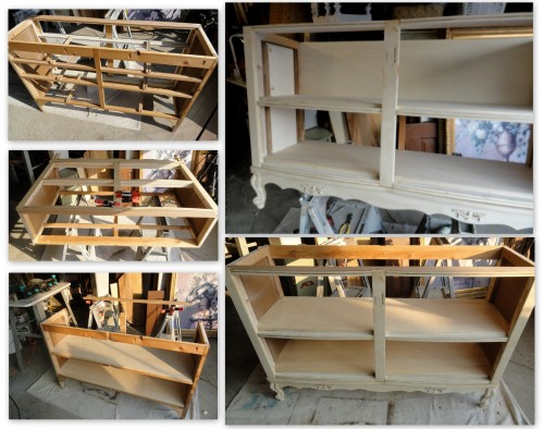 refitting a dresser to a bookcase