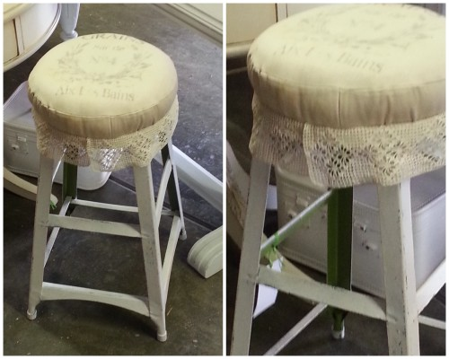 a facelift for the curbie stool!
