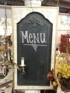 french-y chalkboard