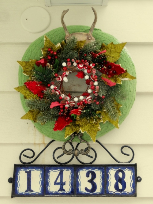 a wreath for the back door~