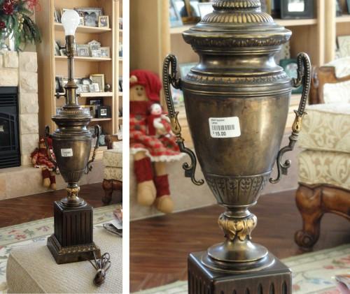 URN lamp to trophy urn