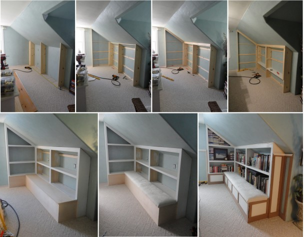 bookcase design alcove