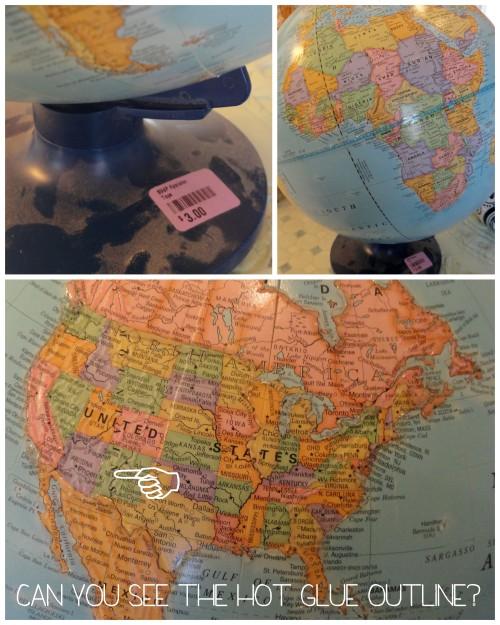 my $3 thrift store globe