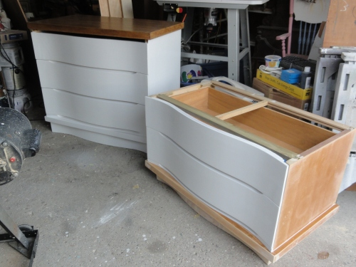 progress on the Craig's list dresser #3