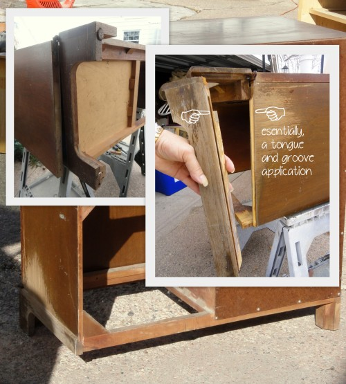 fixing the Craig's list cabinet