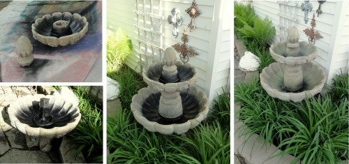 fixing the back fountain