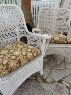 my Pier 1 wicker chairs--