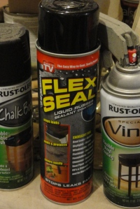 Flex Seal rubber spray paint