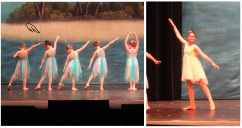 the girls' dance recitals--