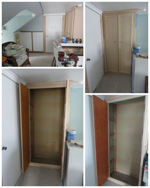 the upstairs hall linen closet---