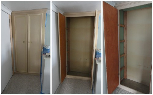 the upstairs linen closet--