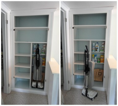 the finished linen closet--