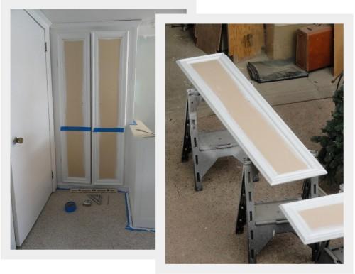 the linen closet doors---