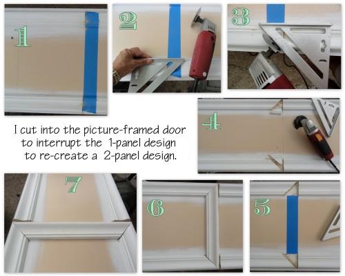 re-creating a 1 panel door into a 2-panel door