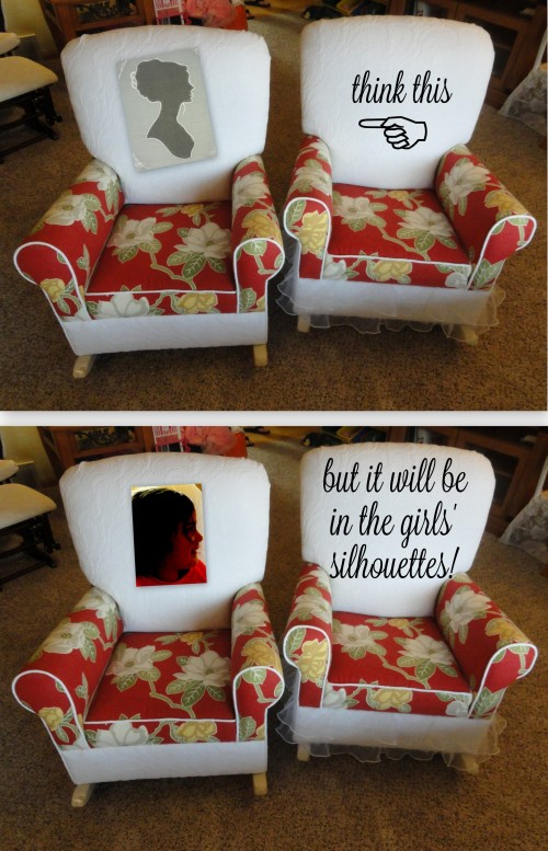 "the ""cameo"" I'll add to each of the girl's chairs!"