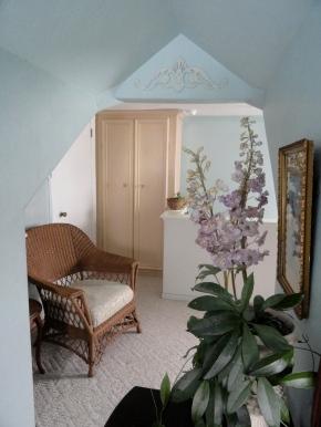 the upstairs hall linen closet--
