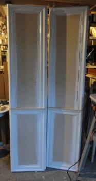 the linen closet doors reframed