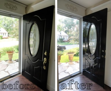 the front door---before and after