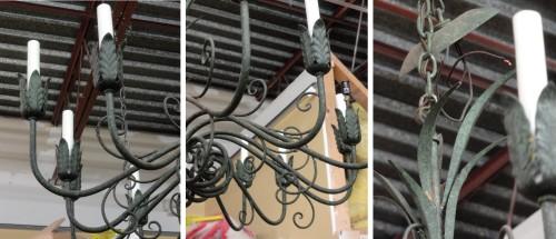 details of Kristen's chandeliers--