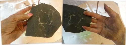 sanding away the texture--