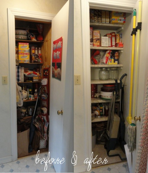 hall closet BEFORE & AFTER