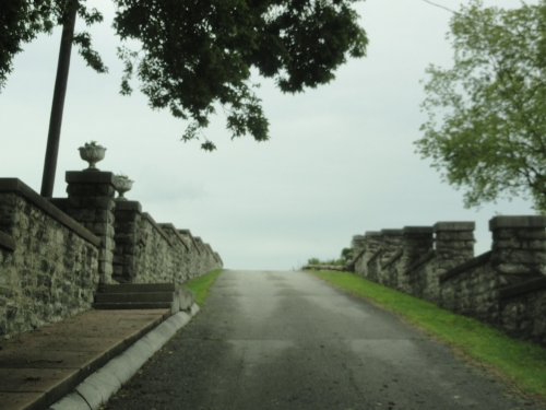 ~the driveway up the hill to the Cruikshank Mansion