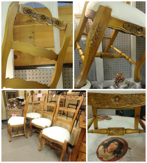 my French country ladder-back chairs