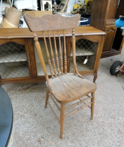 the old farm chair--
