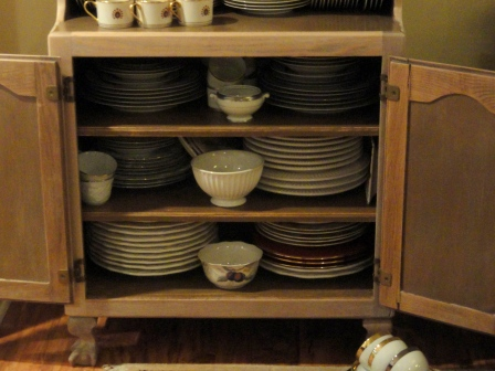 filling my dish hutch--