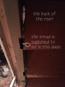 Yikes!  The stairs are coming apart!