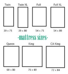 mattress sizes and bed frames