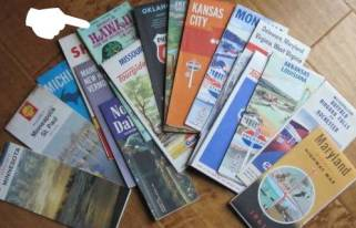 vintage road maps from CL!