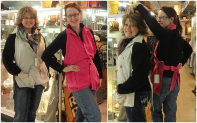 --the ladies at the antq mall modeling for me!