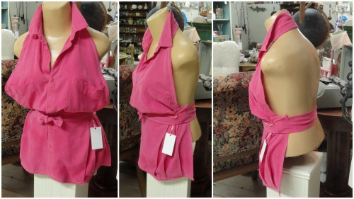 the PINK silk apron