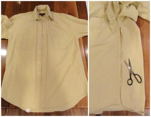 shirt aprons -NO SEWING
