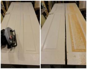 Cutting my door in half to get started!