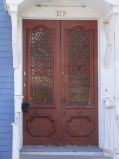 the amAZing front doors of the house I got the theatre seats from!