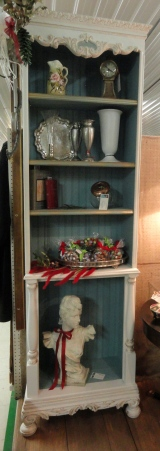My new display cabinet for the antique mall!