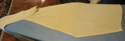 raw edges folded over and ironed